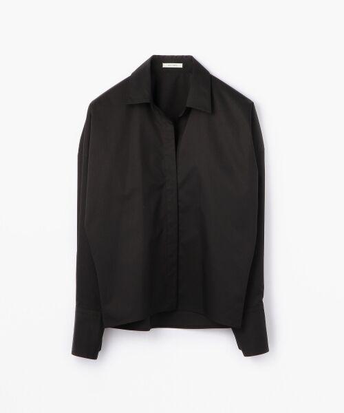 TOMORROWLAND / トゥモローランド シャツ・ブラウス | コットンポリエステルツイル ビッグシャツ(19 ブラック)