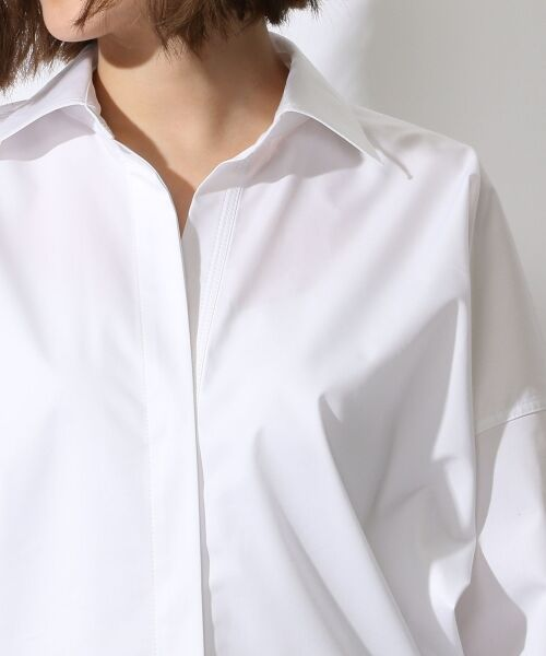 TOMORROWLAND / トゥモローランド シャツ・ブラウス | コットンポリエステルツイル ビッグシャツ | 詳細4