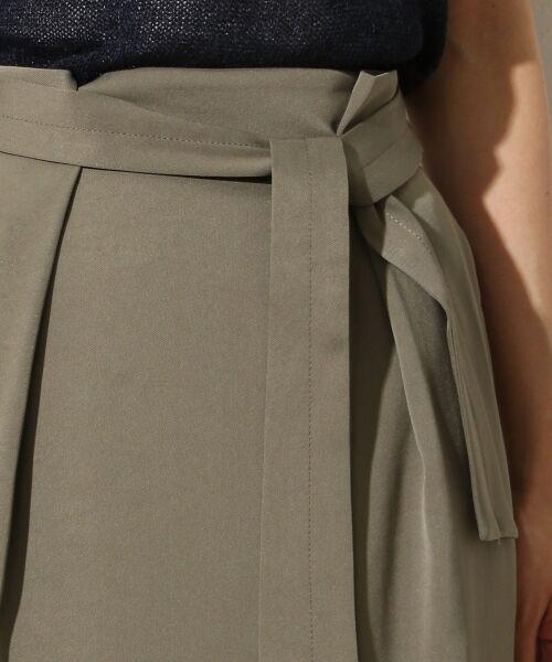 TOMORROWLAND / トゥモローランド ミニ・ひざ丈スカート | トリアセテートポリエステル タックギャザースカート | 詳細4