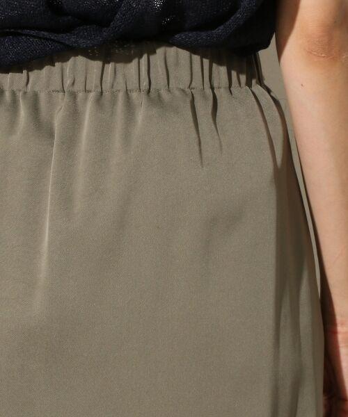 TOMORROWLAND / トゥモローランド ミニ・ひざ丈スカート | トリアセテートポリエステル タックギャザースカート | 詳細5