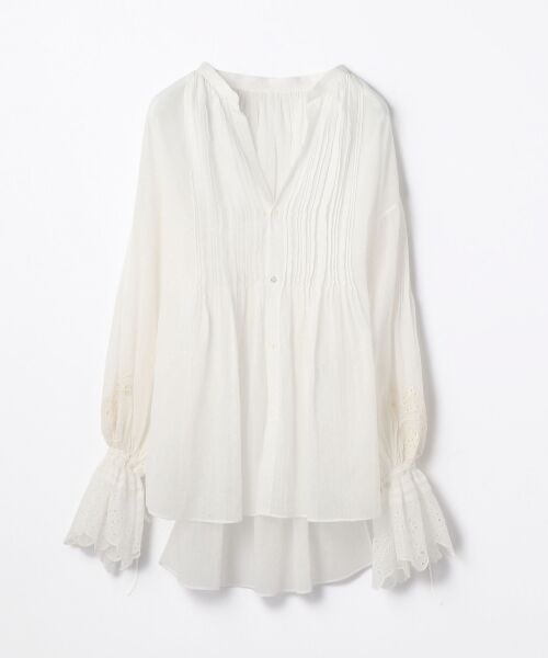 TOMORROWLAND / トゥモローランド シャツ・ブラウス   コットンエンブロイダリー ギャザーシャツ(11 ホワイト)