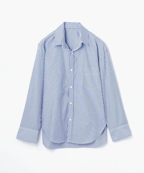TOMORROWLAND / トゥモローランド シャツ・ブラウス | コットンブロード コクーンバックワイヤーシャツ(62 ブルー系)