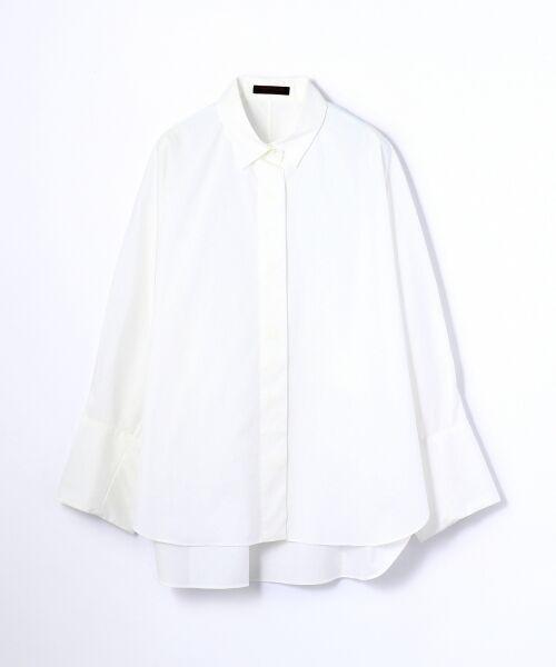 TOMORROWLAND / トゥモローランド シャツ・ブラウス | コットンタイプライター レギュラーシャツ(11 ホワイト)
