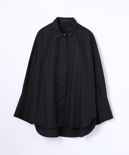 TOMORROWLAND / トゥモローランド シャツ・ブラウス | コットンタイプライター レギュラーシャツ(19 ブラック)
