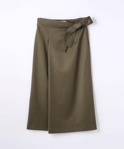 ウールポリエステル ベルテッドスカート