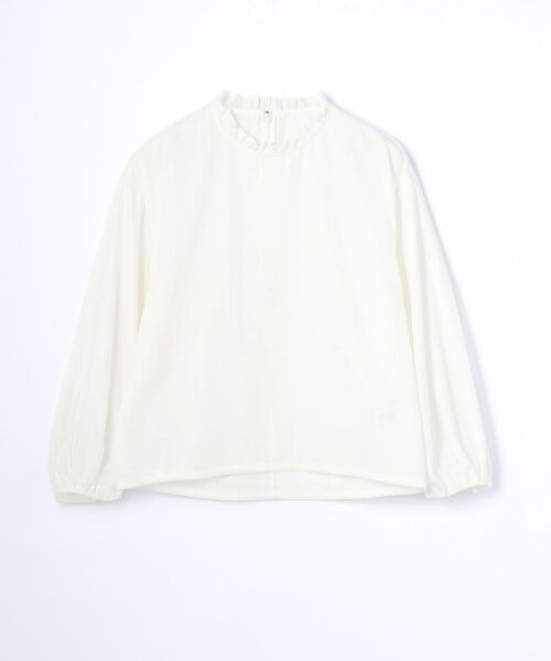 TOMORROWLAND / トゥモローランド シャツ・ブラウス   コットン フリルカラーブラウス(11 ホワイト)