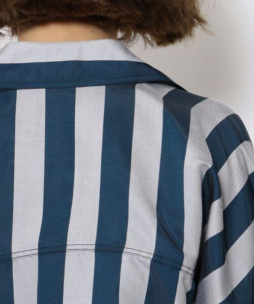 TOMORROWLAND / トゥモローランド シャツ・ブラウス | レーヨンシルクストライプ プルバックシャツ | 詳細5