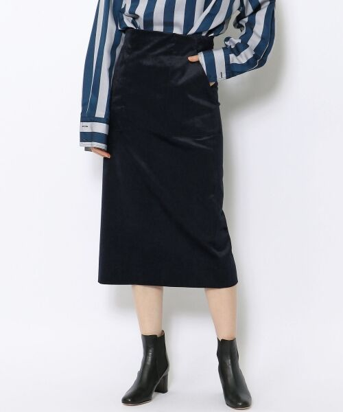 TOMORROWLAND / トゥモローランド ミニ・ひざ丈スカート | ベルベット タイトスカート | 詳細2