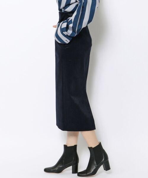 TOMORROWLAND / トゥモローランド ミニ・ひざ丈スカート | ベルベット タイトスカート | 詳細3