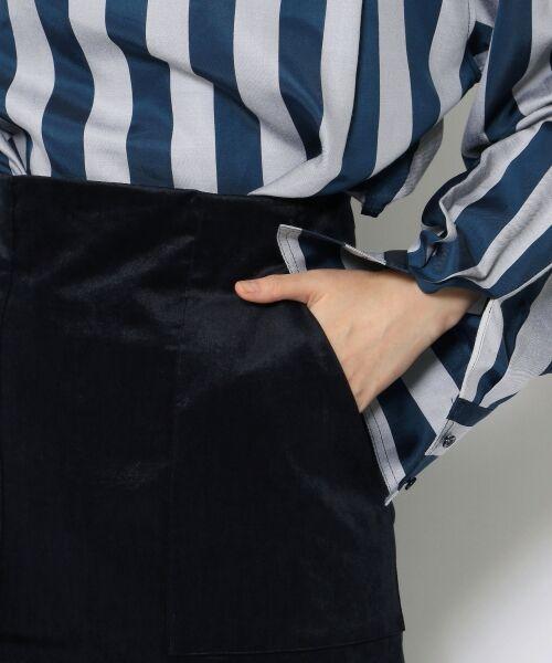 TOMORROWLAND / トゥモローランド ミニ・ひざ丈スカート | ベルベット タイトスカート | 詳細7