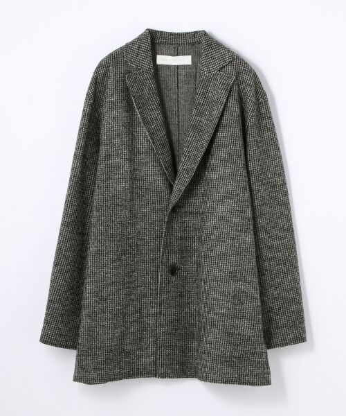 TOMORROWLAND / トゥモローランド テーラードジャケット | ウールナイロン テーラードロングジャケット(18 ブラック系)