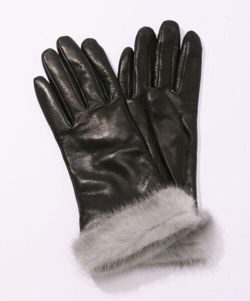 TOMORROWLAND / トゥモローランド 手袋 | Gloves ミンクファーグローブ(19 ブラック)