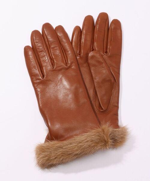 TOMORROWLAND / トゥモローランド 手袋 | Gloves ミンクファーグローブ(45 キャメル)