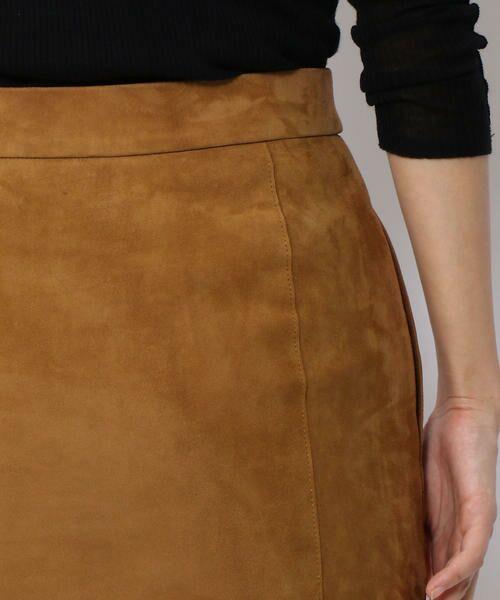 TOMORROWLAND / トゥモローランド ミニ・ひざ丈スカート | ラムレザー フロントボタンミディスカート | 詳細6