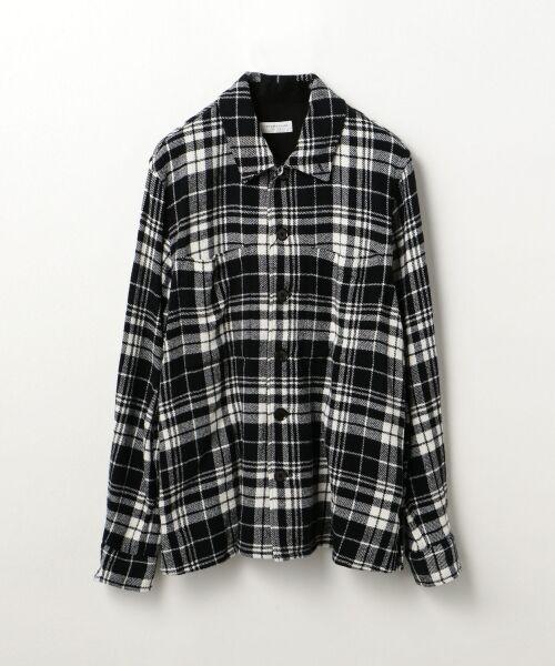 TOMORROWLAND / トゥモローランド シャツ・ブラウス | コットンチェック レギュラーカラーシャツ(18 ブラック系)