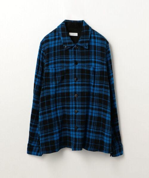 TOMORROWLAND / トゥモローランド シャツ・ブラウス | コットンチェック レギュラーカラーシャツ(66 ブルー系)