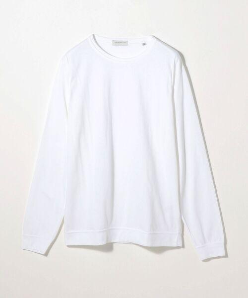 TOMORROWLAND / トゥモローランド Tシャツ | スエードソフト天竺 クルーネックカットソー(11 ホワイト)