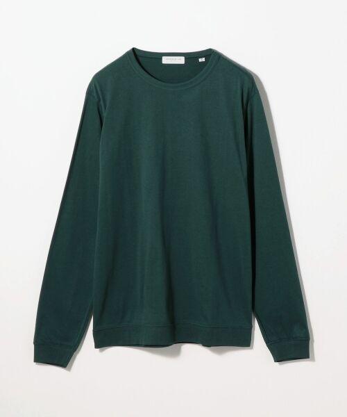 TOMORROWLAND / トゥモローランド Tシャツ | スエードソフト天竺 クルーネックカットソー(57 カーキ)