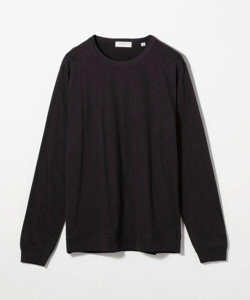 TOMORROWLAND / トゥモローランド Tシャツ | スエードソフト天竺 クルーネックカットソー(69 ネイビー)