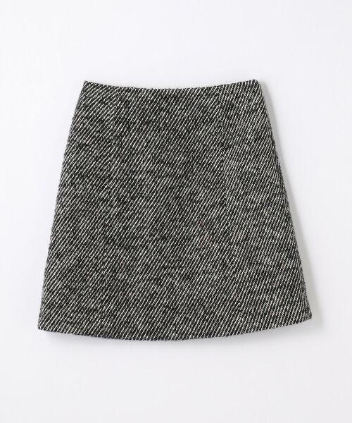 アクリルウールカラーミックスツイード トラペーズスカート
