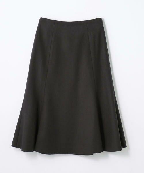TOMORROWLAND / トゥモローランド ミニ・ひざ丈スカート | ウールメルトン マーメイドスカート(17 チャコールグレー)