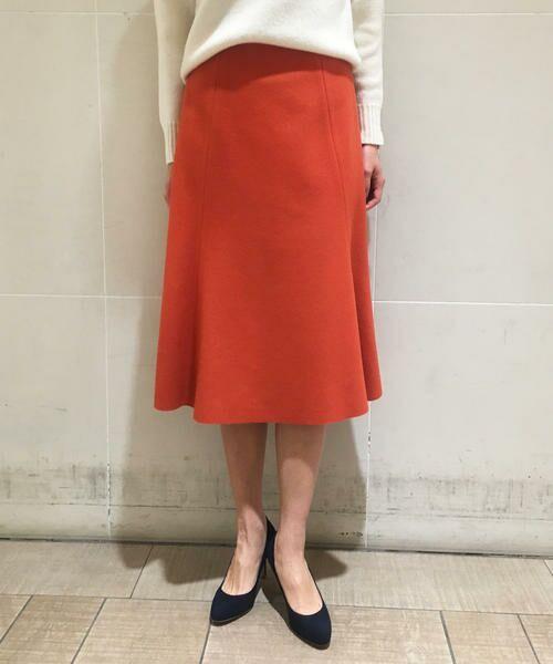 TOMORROWLAND / トゥモローランド ミニ・ひざ丈スカート | ウールメルトン マーメイドスカート | 詳細1