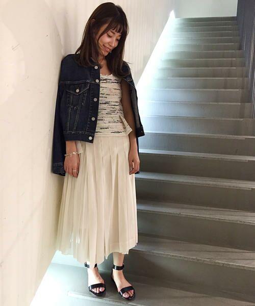 TOMORROWLAND / トゥモローランド ミニ・ひざ丈スカート | コットンボイル ラッププリーツスカート(11 ホワイト)