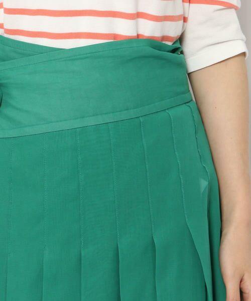 TOMORROWLAND / トゥモローランド ミニ・ひざ丈スカート | コットンボイル ラッププリーツスカート | 詳細9