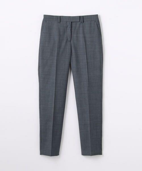 TOMORROWLAND / トゥモローランド スラックス・ドレスパンツ | ウール シガレットパンツ(64 ブルー系)