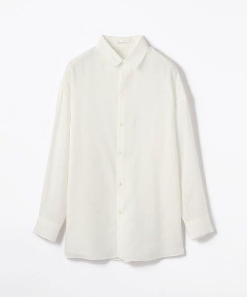 TOMORROWLAND / トゥモローランド シャツ・ブラウス | ウォッシュドレーヨン ボーイフレンドシャツ(11 ホワイト)
