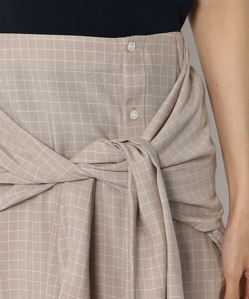 TOMORROWLAND / トゥモローランド ロング・マキシ丈スカート | ウォッシュドレーヨン 3-wayシャツスカート | 詳細5
