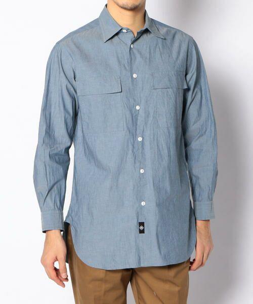 TOMORROWLAND (トゥモローランド) コットンダンガリー ワークシャツ