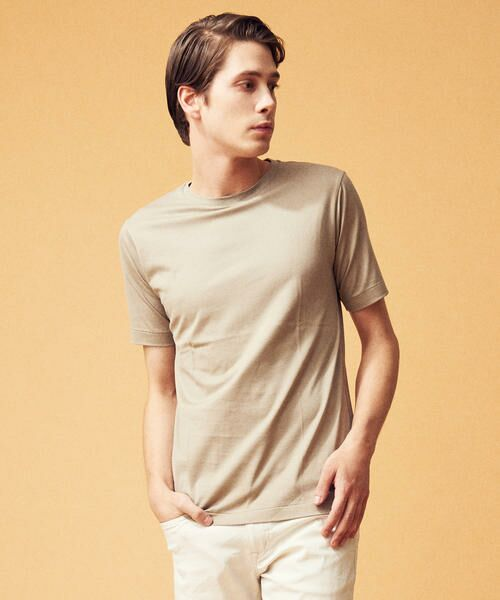 TOMORROWLAND / トゥモローランド Tシャツ | スヴィンジャージー クルーネックTシャツ(45 ベージュ)