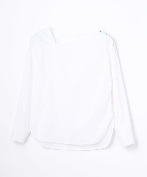 TOMORROWLAND / トゥモローランド シャツ・ブラウス | コットンポリエステル アシンメトリーネックシャツ(11 ホワイト)