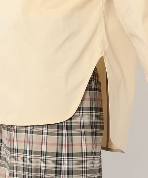 TOMORROWLAND / トゥモローランド シャツ・ブラウス | コットンポリエステル アシンメトリーネックシャツ | 詳細10