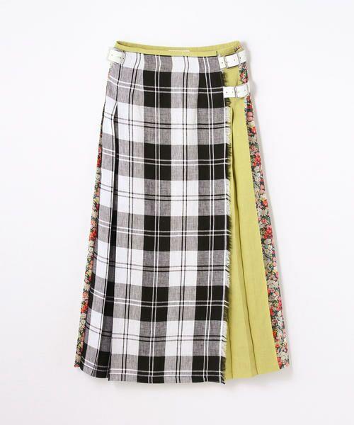 【別注】O'NEIL OF DUBLIN × TOMORROWLAND リバティパッチワークプリントキルトスカート