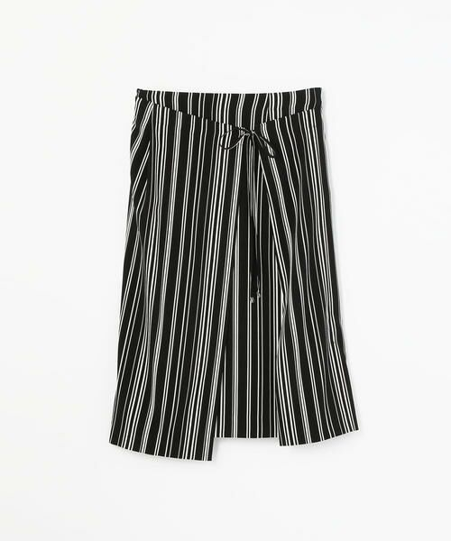 TOMORROWLAND / トゥモローランド ミニ・ひざ丈スカート | アセテートファイユ ラップスカート(18 ブラック系)
