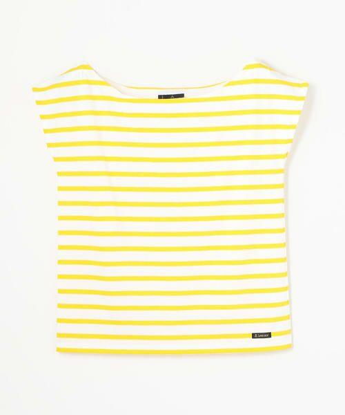 TOMORROWLAND / トゥモローランド カットソー   Le minor ワイドオープンネック Tシャツ(24 イエロー系)