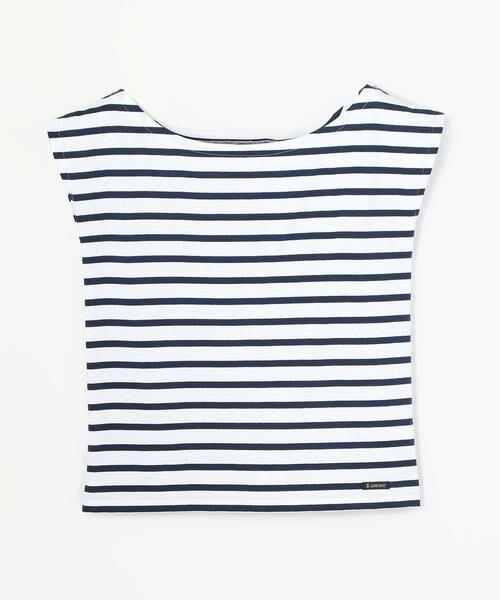 TOMORROWLAND / トゥモローランド カットソー   Le minor ワイドオープンネック Tシャツ(68 ネイビー系)