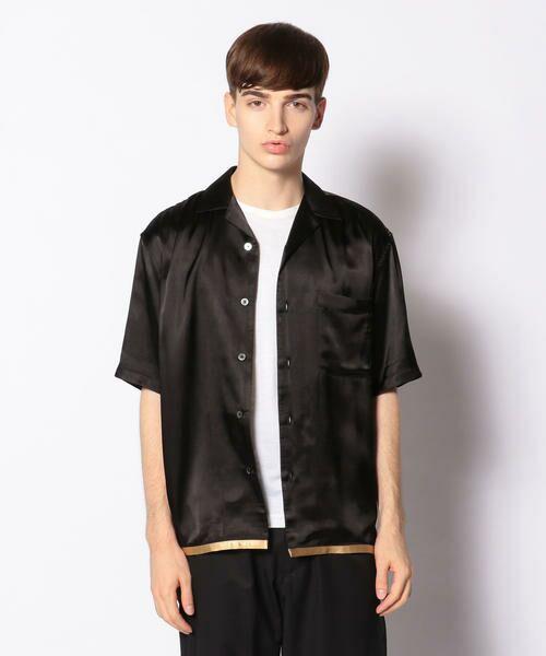 TOMORROWLAND / トゥモローランド シャツ・ブラウス | EDITION オープンカラーシャツ(18 ブラック系)