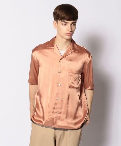 TOMORROWLAND / トゥモローランド シャツ・ブラウス | EDITION オープンカラーシャツ(34 バーガンディ)