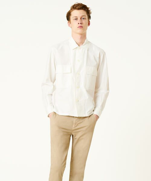 TOMORROWLAND / トゥモローランド シャツ・ブラウス | フィンクスポプリン ミリタリーシャツ(11 ホワイト)