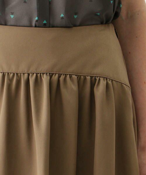 TOMORROWLAND / トゥモローランド ミニ・ひざ丈スカート | ブライトナイロン ヨークギャザースカート | 詳細11