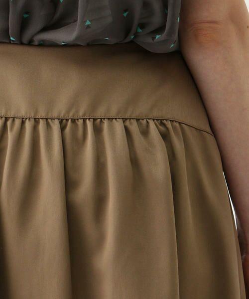 TOMORROWLAND / トゥモローランド ミニ・ひざ丈スカート | ブライトナイロン ヨークギャザースカート | 詳細12