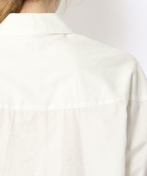 TOMORROWLAND / トゥモローランド シャツ・ブラウス | コットンサテン ラウンドスリーブシャツ | 詳細8