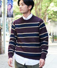 ニットならではのテクニックとスエットシャツのような気軽さを両立した『Tricot TRAINER』シリーズ。<br>今作では裏毛素材のふくらみをスレッド編みで表現しました。<br>ご自宅で洗濯可能なイージーケア性を兼ね備えており、デイリーユースに適した1着に仕上げっています。<br>MADE IN JAPAN<br><br>■素材<br>細番手のコットン糸をスレッド編みし、裏毛素材同様のふくらみを表現。<br>ご自宅で洗濯可能な仕上げなので、がんがんヘビーローテーション可能です。<br>ニットならではの繊細な雰囲気とスエットシャツのような気軽さを両立した〈TOMORROWLAND〉らしいアイテムです。<br><br>■デザイン<br>大学のスエットシャツを思わせるカラーリングを多色のストライプに採用。<br>スクール感のあるトラディショナルな配色とスポーティな印象は、どのようなコーディネートとも好相性です。<br><br>2018AW商品<br><br><b>店舗にお問い合わせの際は、下記の品番をお申し付けください。<br>品番:63028402113</b>
