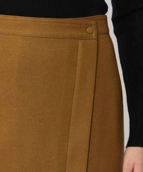 TOMORROWLAND / トゥモローランド ミニ・ひざ丈スカート | ウールメルトンジャージー ラップタイトスカート | 詳細11