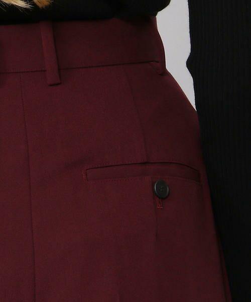 TOMORROWLAND / トゥモローランド スラックス・ドレスパンツ | ポリエステルウール タックハイウエストパンツ | 詳細11