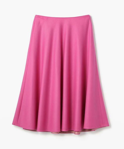 TOMORROWLAND / トゥモローランド ミニ・ひざ丈スカート | ウール サーキュラースカート(35 ピンク)