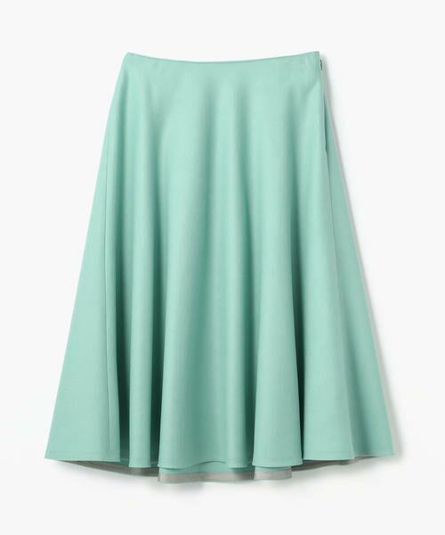 TOMORROWLAND / トゥモローランド ミニ・ひざ丈スカート | ウール サーキュラースカート(53 ライトグリーン)